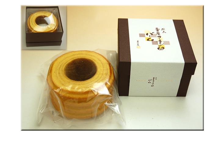 名古屋コーチン卵バームクーヘンの箱入りイメージです。:愛知の手作り和菓子処【菓宗庵】